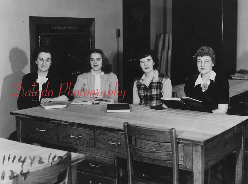 (Spring 1958) Shamokin High School home economics.
