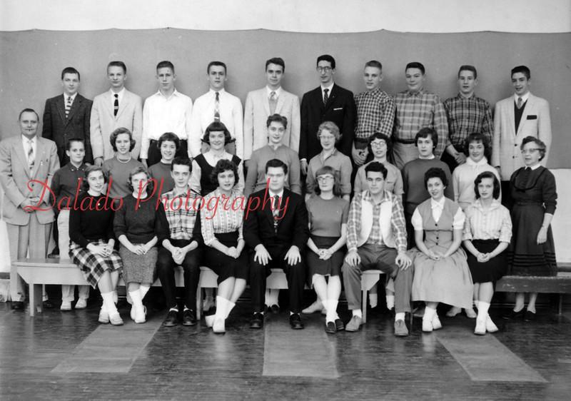 (1958) From the Shamokin High School alumni association 75th anniversary book. Student council.