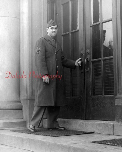 (Spring 1958) Soldier at the Shamokin High School.