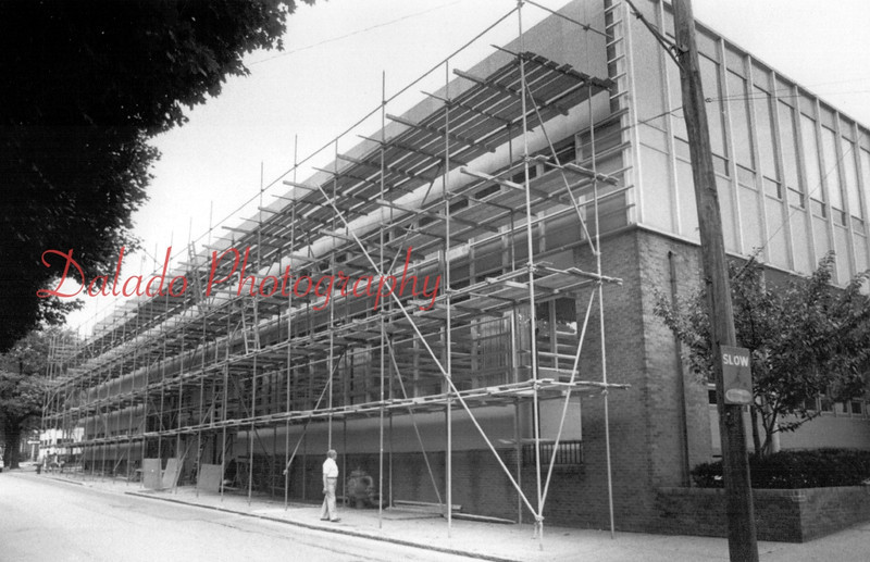 (Aug. 1981) Work began to close windows and better insulate the building.