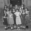 (10.04.53) St. Stephen's School patrol boys are, front row, from left, Donna Jean Baker, Susan Poplaski, Patricia Jerome and Sandra Cain; second, Frances Durdock, MaryAnn Ryan, Mary MacLean and Mary Ann Cleaver; third, Marian Socko, RoseMarie Weinhofer, Barbara Mroz and Marie Shingara.