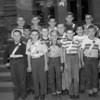 (10.04.53) Stevens School patrol boys are, front row, from left, Mike Eckard, Peter Kerstetter, Dan Shalongo, Dan Ritzman and Bill Freeman; second, Gary Leib, Malcom Lehman, Harvey Young and Herman Miller; third, Mike Klembara, Jack Lashay, Richard Herr, Ronald Shurock and Paul Swank.