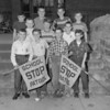(10.25.54) Steven School, Fourth and Walnut streets, Mount Carmel, patrol boys are, front row, John Mannello, Harry Weaver, Richard Jeffery and Frank Ryan; second, Gary Dietz, Leo Schaffler and Joseph Lukens; third, Carmen Beligo, Paul Bowers, Richard Nasados and Robert Miller.