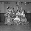(10.07.57) Washington School students with pumpkins are, seated, from left, Ned Polan, Susan Nye and Billy Miller; middle, Kathleen Ryan, Barbara Jones, Sally Kurtz and Margaret Purcell; back, Rosalyn Mallett, Gayle Troutman, Kathy Yocum and Billy Hudson.