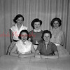(05.12.1955) Five honor roll students of Ralpho Township High School on May 12, 1955, are, seated, Ellen Kuhn, valedictorian; Joanna Cecco, salutatorian; standing, Doris Wolfgang, third; Ruthann Frederick, fourth, and Alice Reichard, fifth.