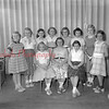 (05.12.55) Elementary students of Ralpho Township School. Seated are, from left, Carol Richard, Marilyn Cox and Jean Richards; standing, Jane Miller, Gertrude Fisher, Jeanette Weaver, Carol Herrig, Dianna Gooderham, Angelica Wipocki, Carol Smokowitz and Nan Weller.