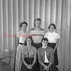 (09.29.55) Ralpho Township High School senior class are, seated, Carol Adams, Shirley Coak; standing, Joan Pensyl, Don Herring and Nedra Howells.