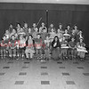 (09.29.55) The cast of Robin Hood, Cub Scout unit of St. Edward's Church. First row are, from left, Nicholas Bogush, Daniel Haggerty, Robert Golden, Walter Hager, Vincent O'Gara, Rex Bartholomew, Thomas Fobia, Gilbert Chamberlain, Dennis Bogush and Thomas Gallagher; second, Charles Krepshaw, James Christiana, William Gilger, Francis Dick, Gary Graeber, William Weaver, Bernard Szverra, William Klemick, Julius Christiana, Michael Robatin  and Theodore Bakowicz; third, Peter Fobia, Michael Hager, Richard Waraska, Jimmy Wheeler, Henry Campton, Larry Swank, Thomas Herrity, Neil Tillett and Robert Graeber.