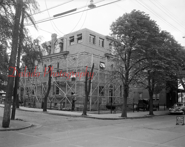 (01.01.1952) Renovation of John Mullen Mansion, which is being converted to the Transfiguration School on Shamokin Street in Shamokin.