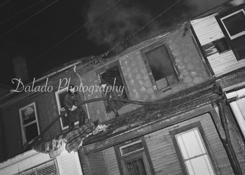 Row home fire, unknown.