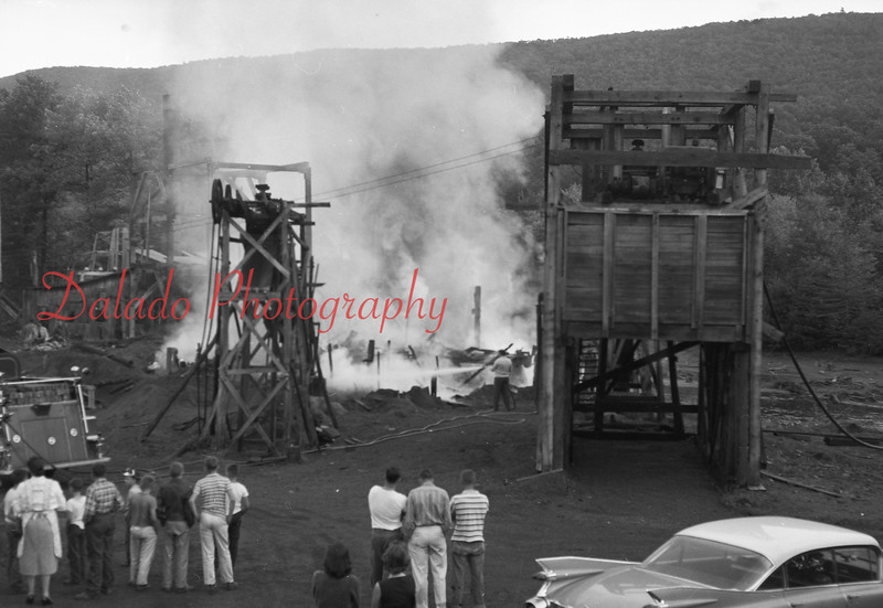 (Sept. 1959) Fire at the coal cleaning plant owned by C.F. General Contracting near Gowen City.