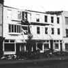 (Dec. 1958) Unknown fire. Some businesses in this block are Heiler's Garage, Burdulis Cafe and Acme Markets.