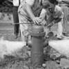 Fire hydrant pressure testing.