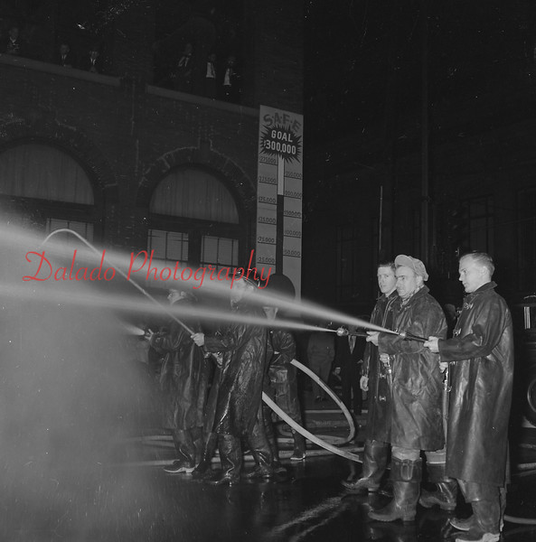 Fire training at the Masonic building.