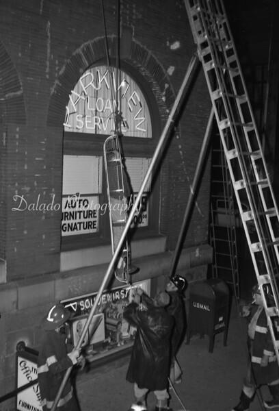 (Oct. 1958) Shamokin fire training.