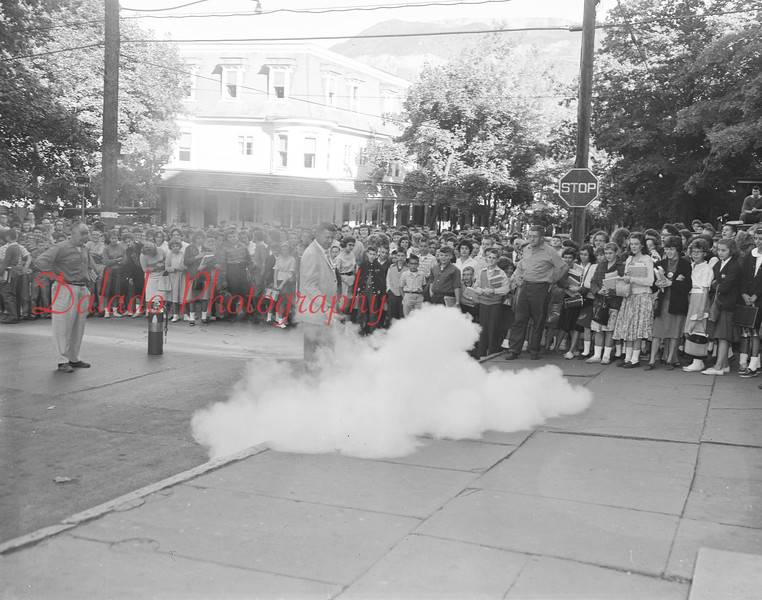 (Oct. 1960) Fire training near the Shamokin High School.