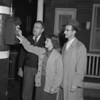 (Oct. 1953) Claude Kehler checking out a fire box.