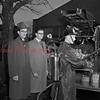 (1952) Inspecting new fire equipment are Claude Kehler, council member, Harold Beaury, fire chief, and Vincent Donahue, fireman.