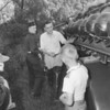 (June 1957) Fire company training.