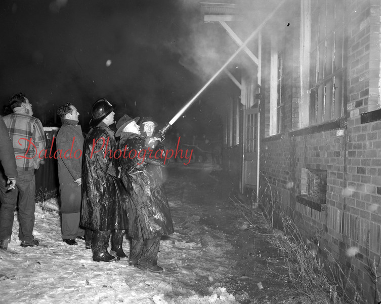 (12.03.1952) Fire at the McKinley Annex School in Coal Township. .