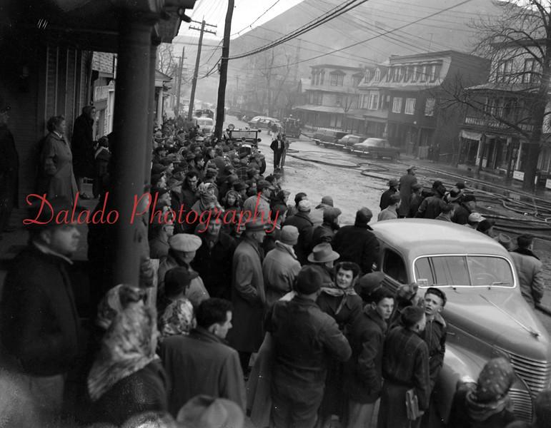 (03.05.53) M&L Cleaners fire on Second Street in Shamokin.