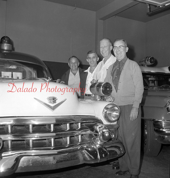 (09.12.57) Chiefs of the ambulance drive in Mount Carmel are, from left, John Miller, Leo Dalpiaz, John O'Donnell and Walter Ososkie.