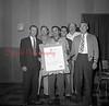 East End Fire Company, Kulpmont, 50th anniversary. Pictured are Bernard Novakaski, Sam Necola, Joseph Palitza; back row, Edwin Burns, Joseph Anania and Anthony Maleski.