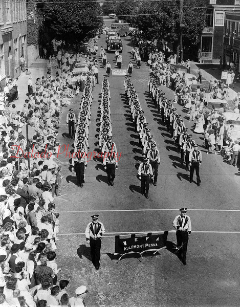 A Kulpmont parade with apparatus.