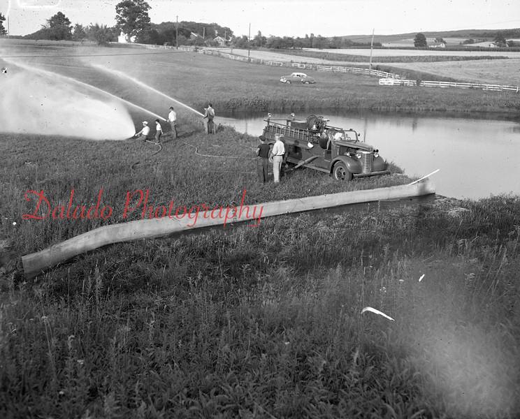(August 1954) Locust Gap Fire Company.