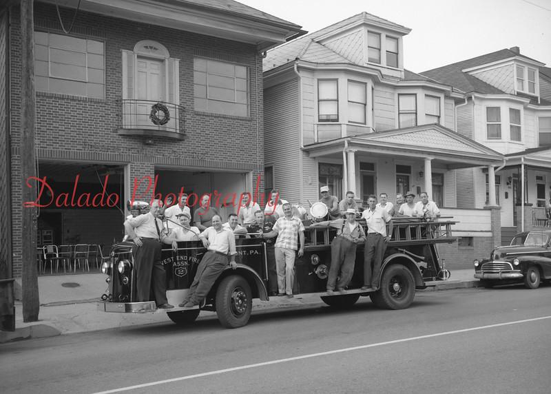 (1958) West End Fire Co. members.