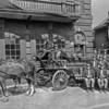 Friendship Fire Co. horse-drawn wagon.