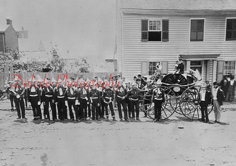 Independence Fire Company with wagon.