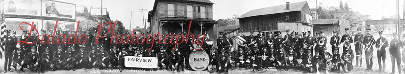 (June 19, 1924) Smaller version of a panoramic of the Fairview Band playing in Pottsville.