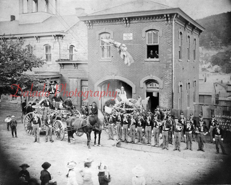 Independence Fire Company at its former location on Lincoln Street- The company formed July 14, 1873 as the Independence Hose and Steam Fire Engine Company. The name was changed to Independence Fire Association when the charter was received on Nov. 22, 1873. John Schabo served as the first fire chief of the company. The quarters was built in 1905. The building was occupied on July 14, 1906.