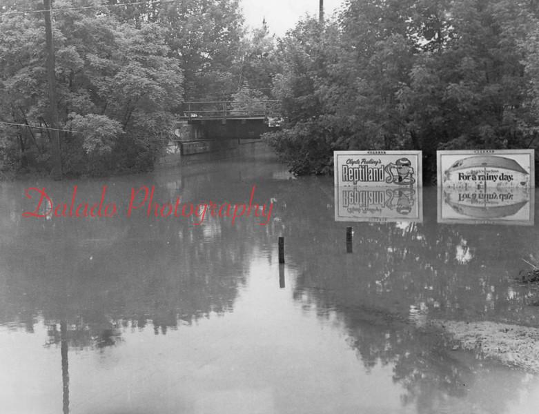 Hamilton Underpass under water.