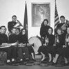 (04.26.56) Salvation Army Band are, front row, from left, Capt. Danold Lance, Judith Sharp, Lt. Davis Reidenbacj, Mary Ola Peck, Larry DiOrio and Norman Zanders; standing, John Zanders, Mary Ann Zanders and Capt. Lance.