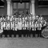 """Our Band under the direction of Walter Seiler- The """"Our Band"""" was one of the Shamokin's oldest cultural organizations. It was founded in 1875 with a membership of 12 musicians, who performed under the direction of William H. Borden. Rehearsals were held in the Rescue Fire Company home, which at the time was a one-story frame structure. Because of the """"adverse"""" conditions, rehearsals were moved to the second floor of the Liberty Fire Company. The band changed directors several times as membership continued to grow. In 1906, the """"Our Band"""" elected Walter Seiler as director (about the time this photo was taken). Several directors followed, including Walter Seiler, William """"Billy"""" Crone, Harley Hastings and William """"Billy"""" Milbrand, who served as the last director before the band became inactive in 2004. The highlight of the """"Our Band"""" came in 1975, the 100th year of existence, when under the direction of Frank Rovito, the band grew to more than 75 members, 60 of whom marched in the Anthracite Memorial Parade."""
