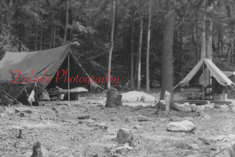 Boy Scouts camping.