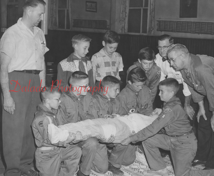 Boy Scout first-aid.