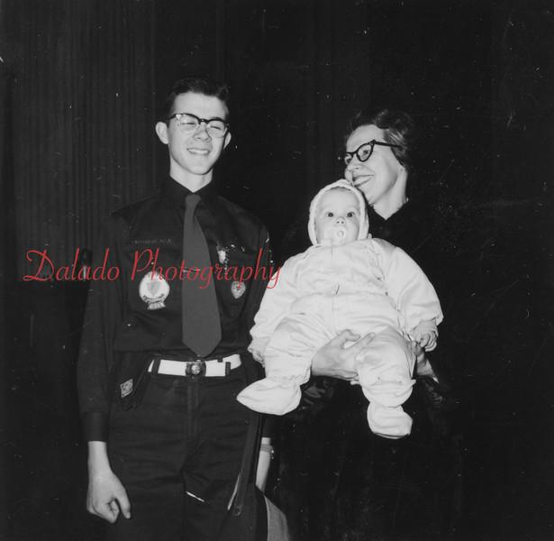 (Feb. 1958) Boy Scout award.