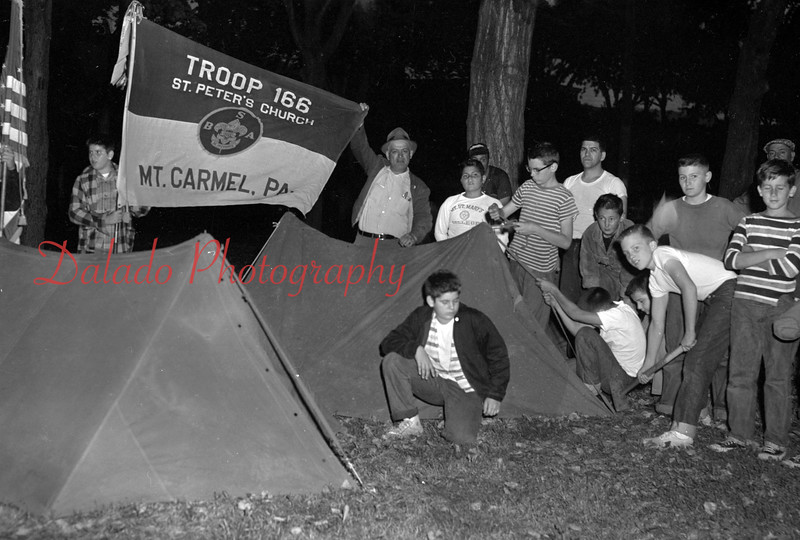 (1960) Scouts from Troop 166, St. Peter's Church, Mount Carmel.
