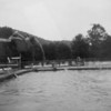 (July 1953) Boy Scout home swimming.
