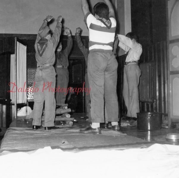 (1954) Boy Scout meeting.