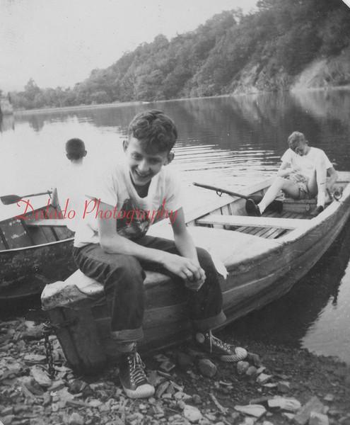 (May 1953) Boy Scouts on a lake.