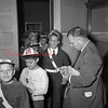 (1951) Boy Scouts visiting with Shamokin Mayor Thomas Landy.