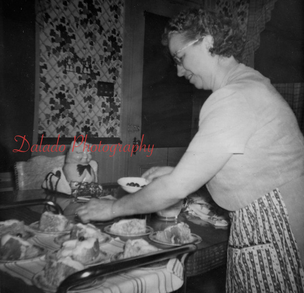 (1959) Boy Scout home cooking.