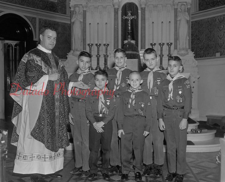 (1964) Troop 32 with a priest.