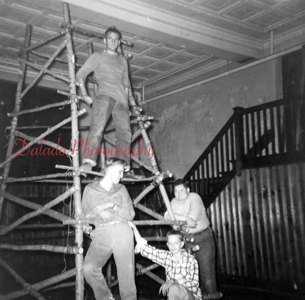 (1955) Boy Scout meeting.
