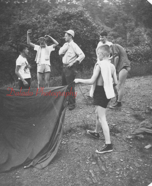 (May 1953) Boy Scout campout.