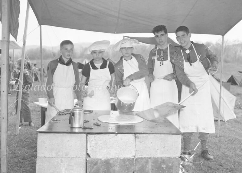 (1961) Scout camp.